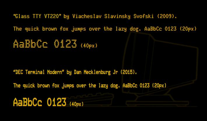 VT220 TrueType fonts