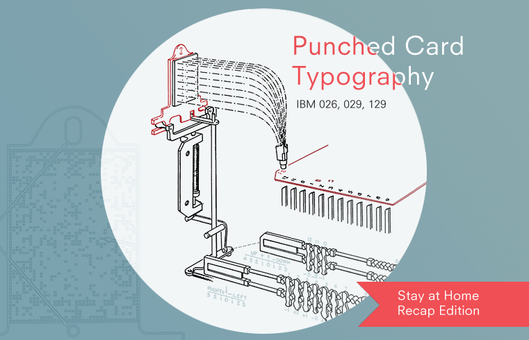 IBM punched card typography explained