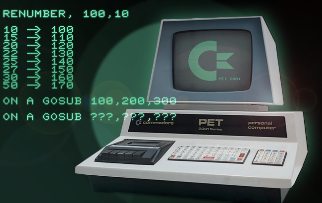 Renumbering Commodore BASIC