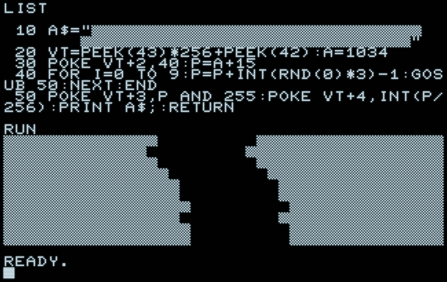 Proof of concept of a string exploit in Commodore BASIC