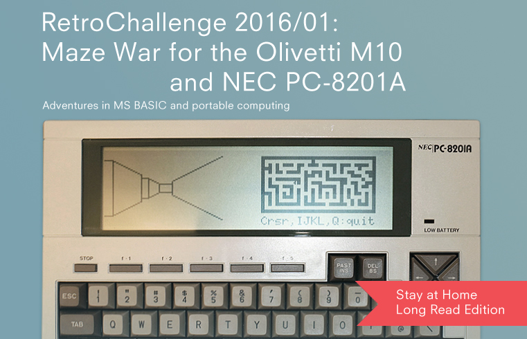 Maze War for Olivetti M10 and NEC PC-8201A